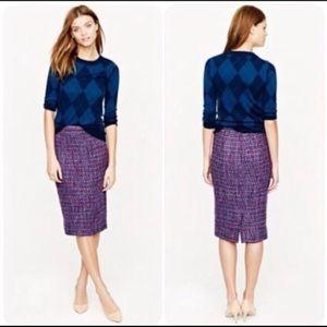 J. Crew N. 2 pencil tweed skirt